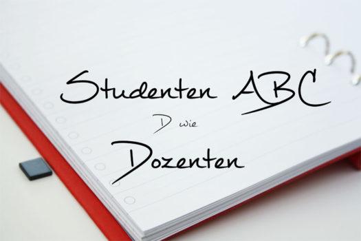 Studenten ABC – D wie Dozenten